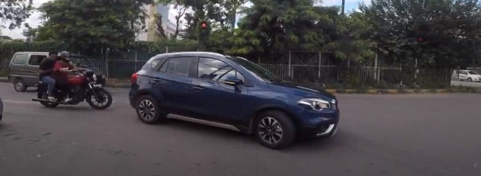 Maruti Suzuki S-Cross Petrol in City Drive