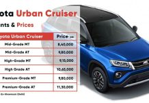 Toyota Urban Cruiser Launched - starts at 8.40 Lakhs