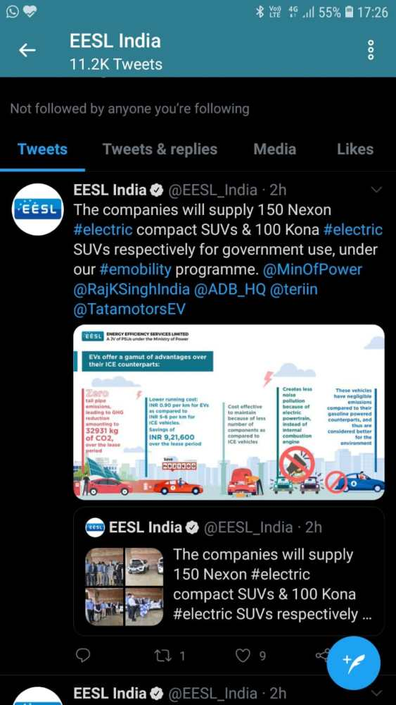 EESL to obtain Tata Nexon EVs and Hyundai Kona