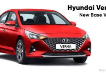 Hyundai Verna E - New Base Variant Introduced