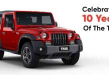 Celebrating 10 years of the Mahindra Thar
