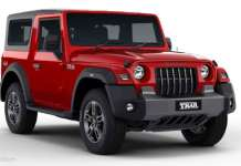 Mahindra Thar AX Variants Removed