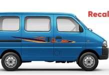 Maruti Suzuki Eeco Recalled