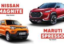 Nissan Magnite Vs Maruti SPresso