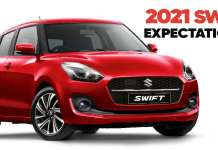 2021 Maruti Suzuki Swift Expectations
