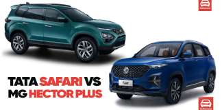 MG Hector Plus vs Tata Safari