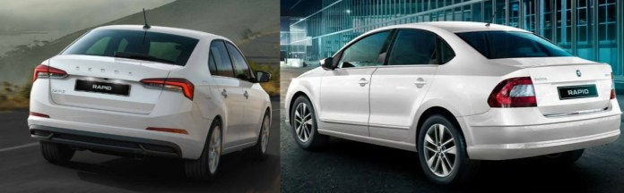 Rear Profile Skoda Rapid Comparison
