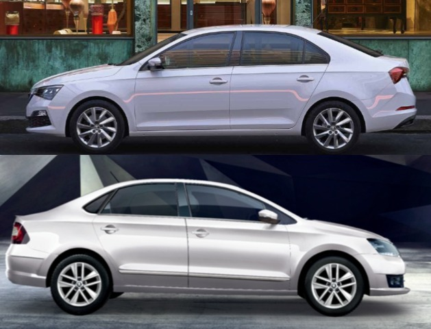 Side Profile Comparison Skoda Rapid