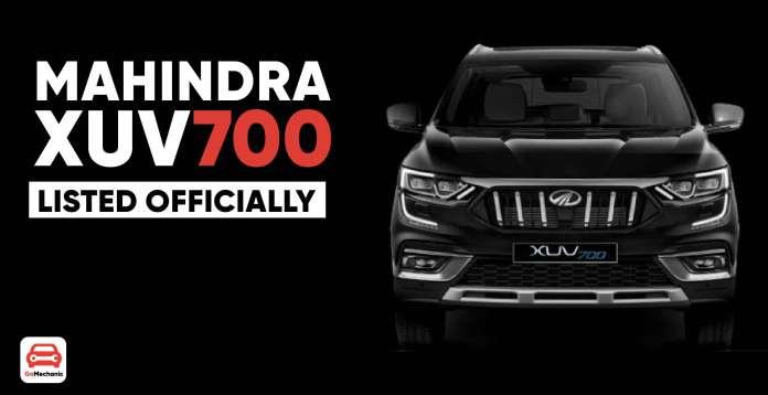 Mahindra XUV700 Listed Officially (1)
