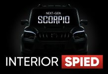 Mahindra scorpio Interior Spied