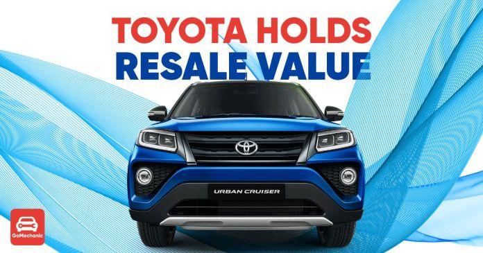 Toyota holds resale value ft
