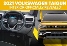 Volkswagen Taigun interior revealed