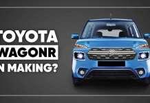 Toyota WagonR (Rebadged Maruti WagonR) Caught Testing