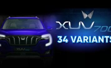 Mahindra XUV700 Comes In 34 Variants