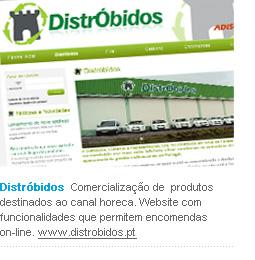 Distróbidos - Comercialização de produtos destinados ao canal horeca. Website com funcionalidades que permitem encomendas on-line. www.distrobidos.pt