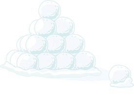 day 16 snowball pile
