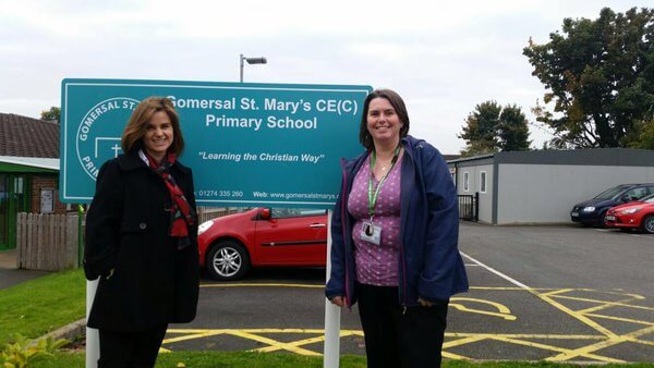 Jo Cox MP with Miss Barker