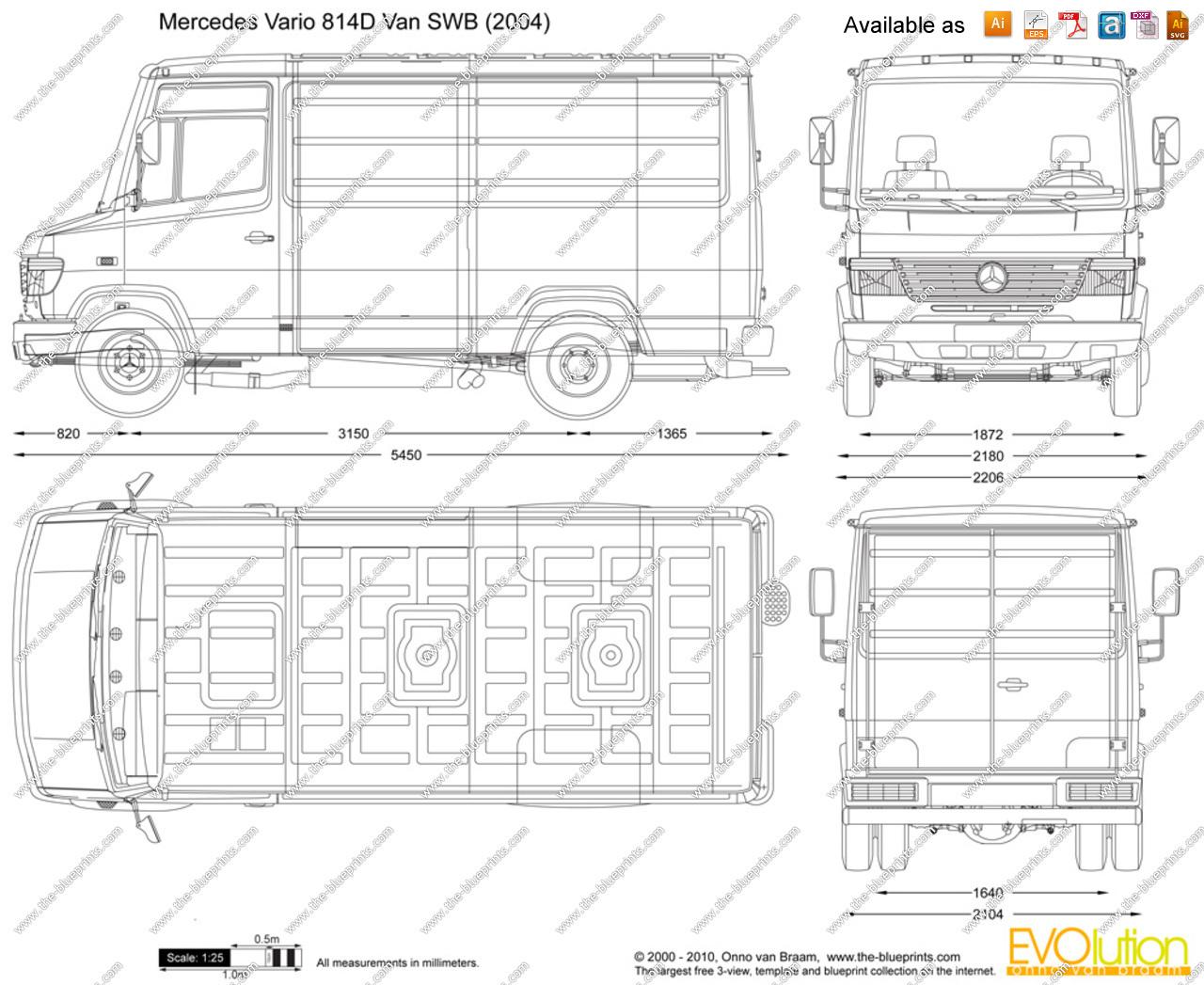 Mercedes Vario Dimensions