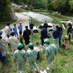 観察会と蛇籠積み・枯れ竹整理