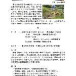 稲刈りと里山観察会
