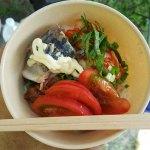 竹テント作り、こってり素麺、シラカシ周り整備