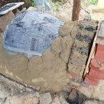 レンガ+粘土で窯を作る