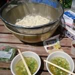 草刈りとサバ素麺