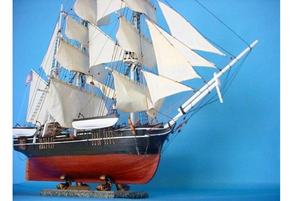 Charles W Morgan Wooden Boat Model