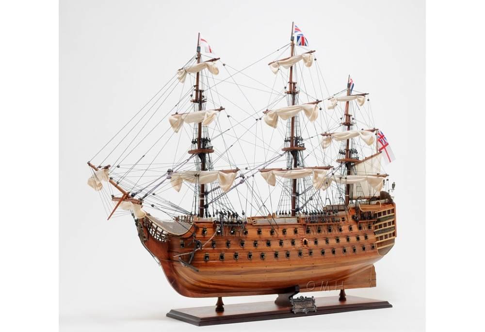 Hms Victory Tall Ship Wooden Replica Model