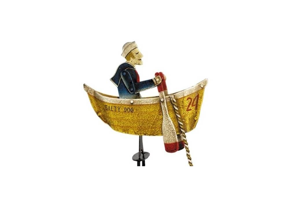 Antiqued Salty Dog Rowing Sailor Sky Hook Balance Toy