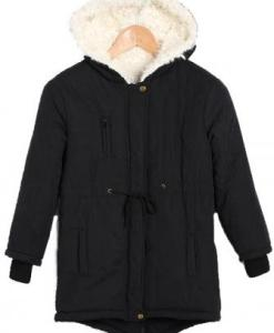 Warm Zip Fleece Hooded Cotton Outerwear