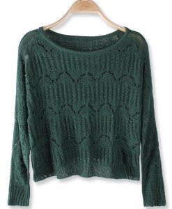 Women Sexy Hollow Out Short Pattern Sweater
