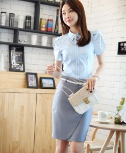 Graceful O Style Pencil Skirt For Women(With Belt)