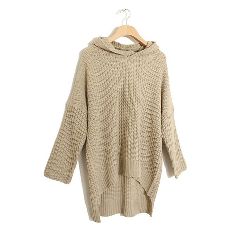 Stylish Hooded Women Pullover Oversized Sweater – GonChas