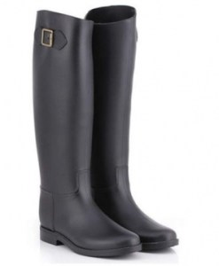 Over Knee High Flat Waterproof Rubber Rain Boots