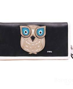Women Cute Animal Owl Pattern Long Wallet