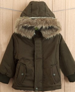 Boy Fur Collar Cotton Padded Hoodies Jacket Coat