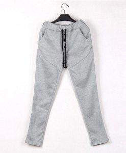 Button Accessories Solid Color Slim Pencil Sports Track Pants