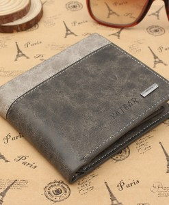 Leather Bifold Wallet ID Business Credit Card Holder