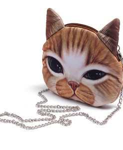 Cute Cartoon Cat Head Shoulder Bag