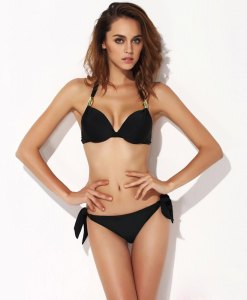 Bikini Set Padded Push-up Halter Swimwear