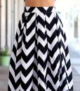 2015 Black & white stripe Two pieces backless knee length dress