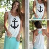 Anchor Print Sweet Vest for summers