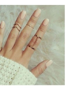 Punk Style Stackable Set of Midi Rings