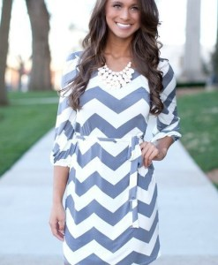 Chevron Casual Dress