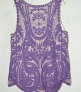 Knitted Lace Sheer Loose Tank Top