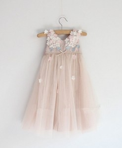Little Girls Floral Soft Tulle Dress