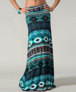 Novelty Printing Maxi Skirt
