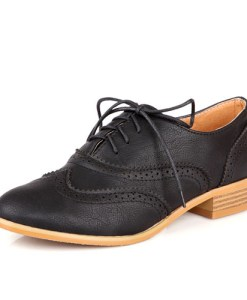 Lace Cut-out Oxfords Shoes