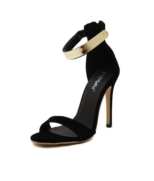 Thin Heels Platform Casual Buckle Strap Shoes